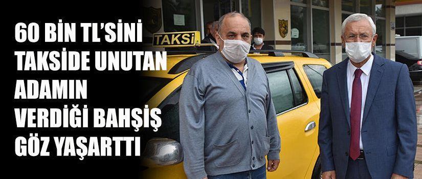 60 bin TL'sini takside unutan adamın verdiği bahşiş göz yaşarttı