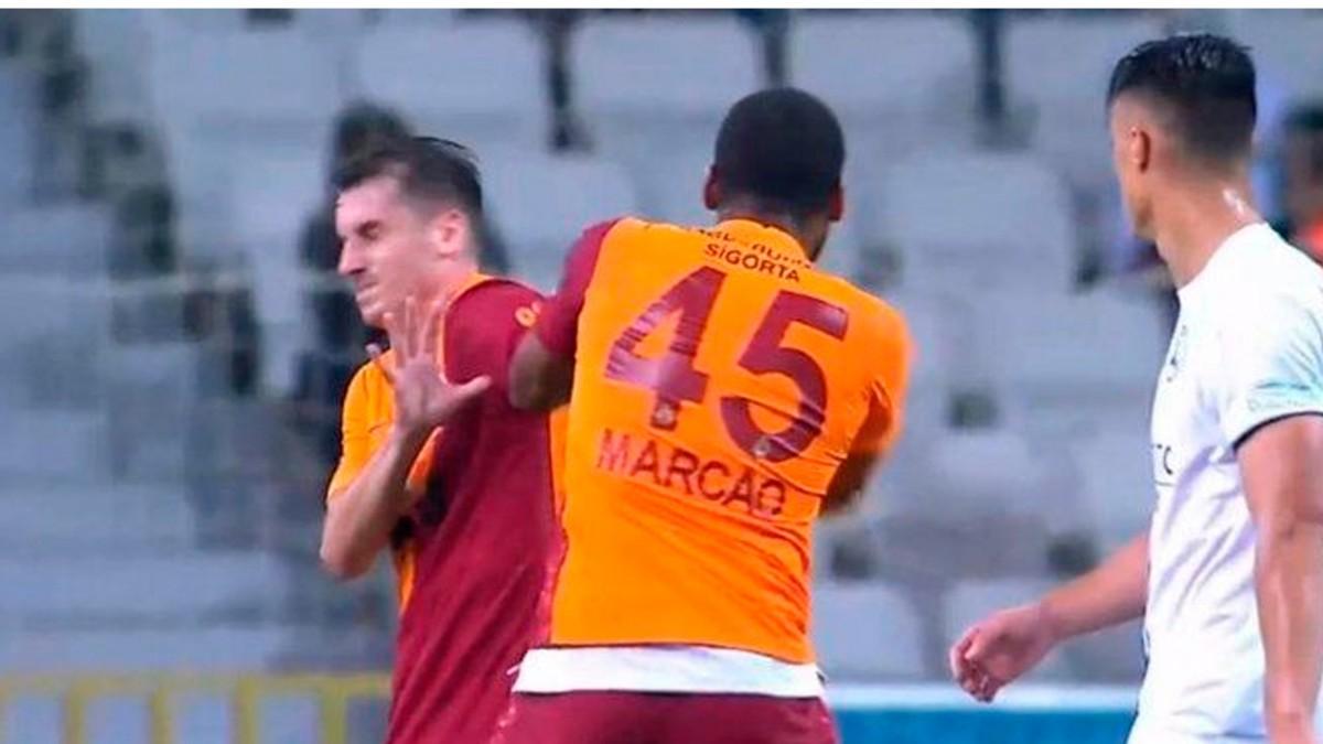 Galatasaray Futbolcuları Marcao ve Kerem Aktürkoğlu'nun Kavgaları Dünya Basınında