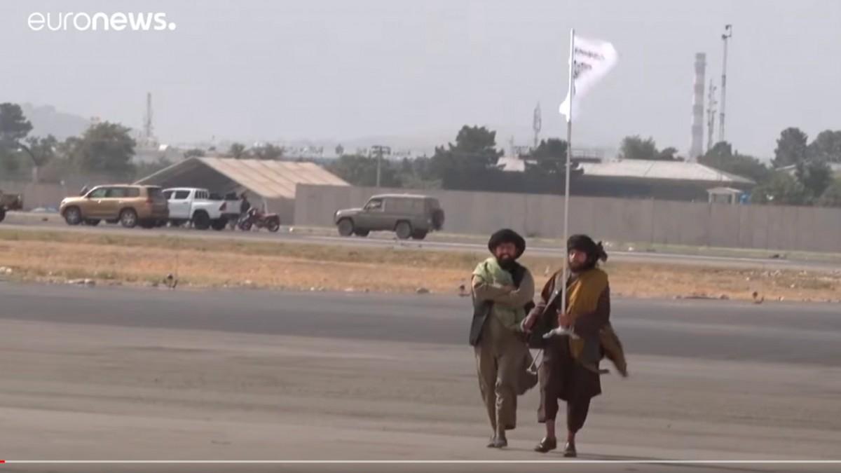 Taliban kontrolüne geçen Kabil Havalimanı'nın son halini görüntülendi
